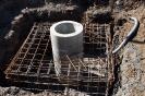 Flutlichtmasten betonieren